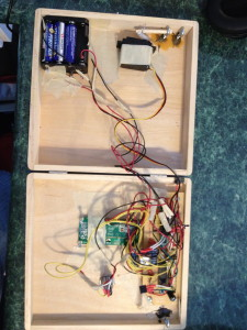 Internal wiring of the GeoCache Puzzle Box