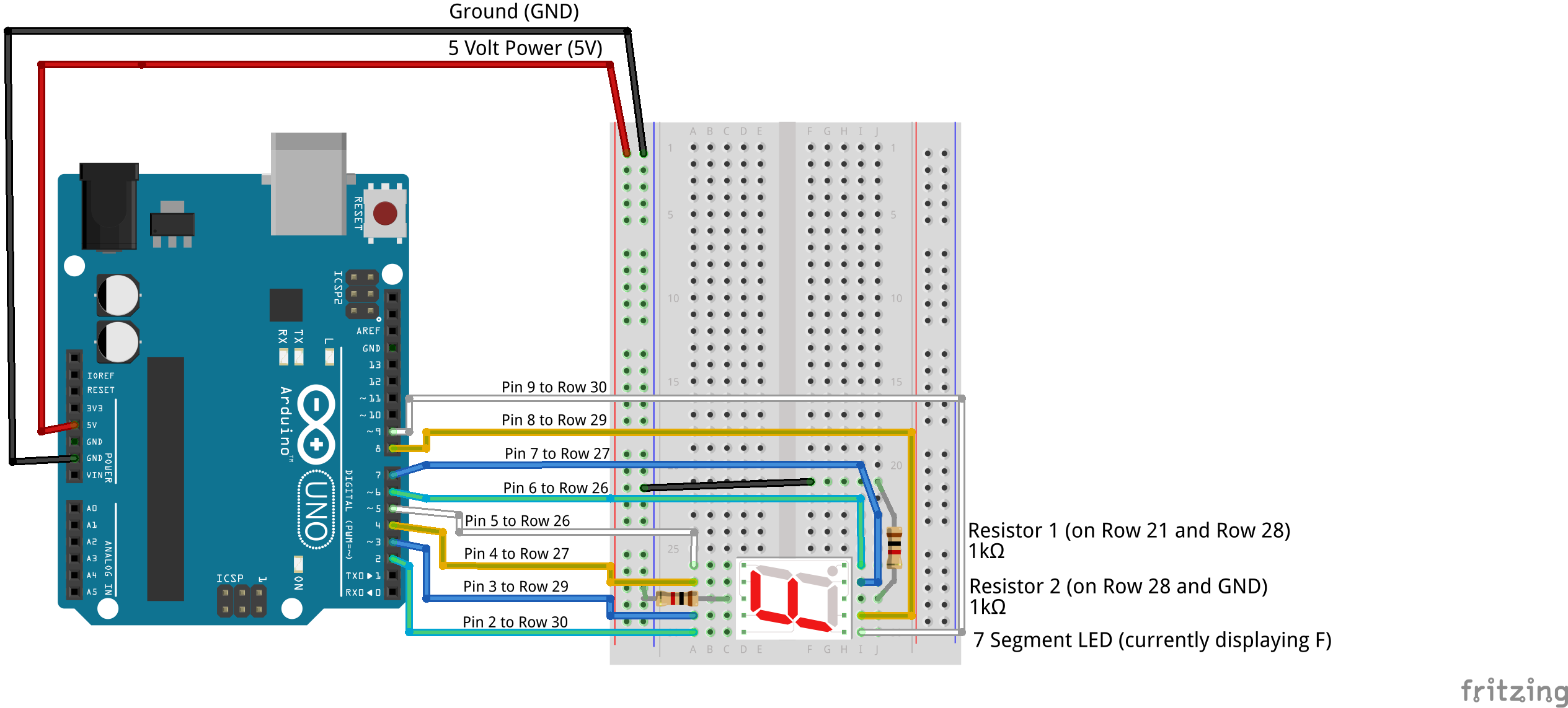 lab 8 7 segment led wiring electronics and education
